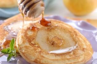 Mini Hot Cakes con Pera