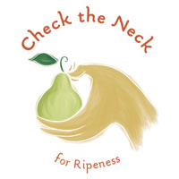 Check the neck for ripeness